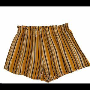Shein striped elastic waist rayon shorts 3X